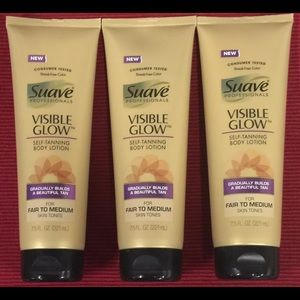 SUAVE VISIBLE GLOW SELF TANNING LOTIONS Lot of 3